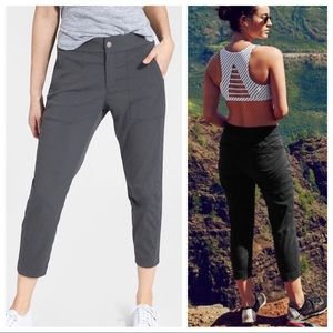 ATHLETA Trekkie Crop Pants in Flagstone Gray
